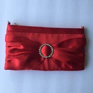Red Evening Purse with removable strap